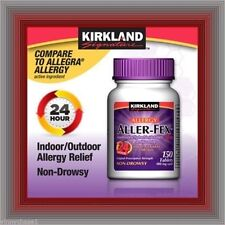 Kirkland Signature 180mg  Aller-Fex, 150 Tablets Indoor and Outdoor Allergies