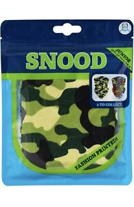 Kids Junior Camouflage Face Covering Snood Scarf Neck Warmer Soft Reusable Mask