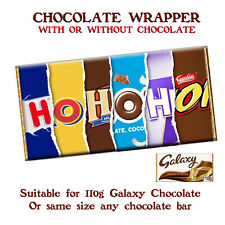 HoHoHo Chocolate Bar Wrapper Novelty Gift Present For Kid Child Friend Adult