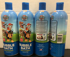 4 Pk Nickelodeon Paw Patrol Pup Pup Berry Bubble Bath-16 Fl. Oz. Made In Usa