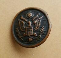 Antique WWI Chas Fischer SPG Co New York Military Uniform Button Copper Vintage