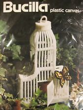 Bucilla Bird Cage Plastic Canvas Needlepoint Kit 8x14 Vintage Donna Kooler