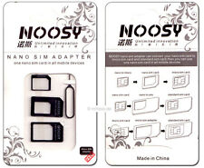 3 SIM Card Adattatore: Nano > micro > mini > standard + auswurfpin, Nero