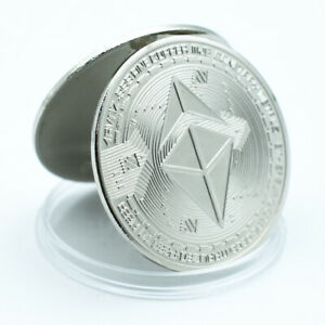 Ethereum Silver Plated Metal Coin Challenge World Coin Worth Collections