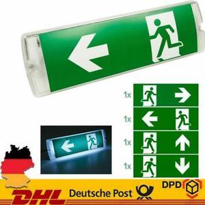 LED Notleuchte Fluchtwegleuchte Notbeleuchtung Notausgang Notlicht Akku DHL