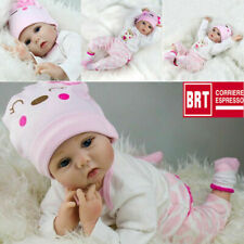 "Hot Sale 22"" Bambole Lifelike Silicone Reborn Baby Doll Playmat Regalo di Birth"