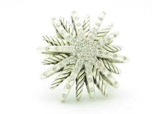 David Yurman Starburst Ring with Diamonds 0.50ct Cable Design Band Size 7 Gift