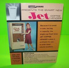 Seeburg 1967 Coffee Vending Machine FLYER Original Vintage Artwork Sheet Promo