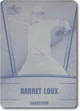 BARRET LOUX 2011 Leaf Draft Rookie Card Press Plate RC RANGERS 1/1