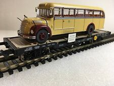 Liliput L235783 Well Wagon With Graf & Shift Bus OBB Epoche IV H0 New T48 Post