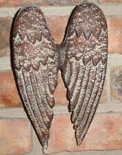Cast Iron Angel Wings, Wall Decor, Garden Decor, Old World Tuscan Decor, Rustic