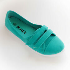 WOMANS TURQUOISE SUEDE LOW TOP TRAINERS SHOES BY JUMEX SIZE 3.5 4.5 5.5