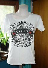 ♛   RICH & ROYAL   ♛ zeitloses T-shirt ♛ weiß mit Druck  ♛  Gr. S  ♛