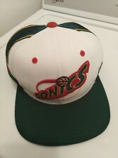 Seattle Supersonics Mitchell & Ness Snapback Hat Cap Green White Logo Spell Out