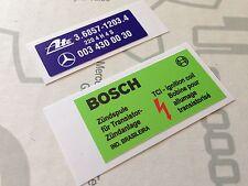 Mercedes W126 R107 C107 sticker set - bosch coil,  ATE booster
