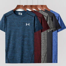 Under Armour Men's Short Sleeve T-Shirt Sports Quick Dry Top Large Size Ice silk