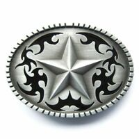 Western Star Cowboy Rodeo Metal Fashion Belt Buckle
