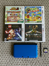 Nintendo 3DS XL Blue With Stylus, Charger, 4GB SD Card & 4 Games