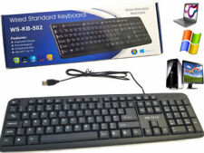 Wired USB Keyboard For Laptop DELL  HP PC Computer Desktop Notebook