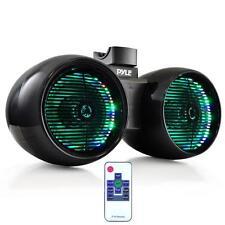 "Pyle Plmrwb652Leb Dual 6.5"" Marine Tower Wakeboard Speakers Lights 400W"