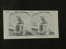 """Holmes Stereoscope Viewer Card """" CHIEF of the GROS VENTRES """"  Old West"""