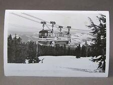 1950's MT. HOOD SKYWAY FROM UPPER TERMINAL Oregon Real Photo RPPC postcard