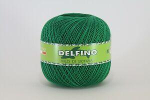 Cotone per uncinetto Delfino 100% filo di scozia n 3,5,8,12,16 gomitolo 100gr