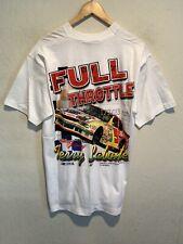 VINTAGE 1999 Terry Labonte Nascar Full Throttle Dual Side T-Shirt LARGE Racing