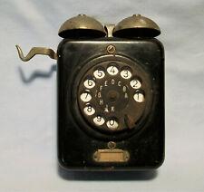 Altes Telefon Wandtelefon W19F Fernsprecher Telefonapparat Metall um 1935 RAR 15