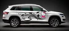 TRIBAL HELLO KITTY CUTE GIRL SWIRL CIRCLE COLOR VINYL DECAL GRAPHIC CAR TRUCK