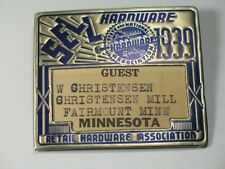 Vintage Art Deco Style Hardware Convention Guest Badge Pin Back 1939 Minnesota