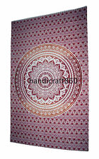 Indian Mandala Tapestry Hippie Wall Hanging Twin Size Bedspread Ombre Dorm Decor