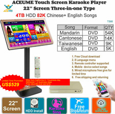 4TB HDD 87K Chinese,English Songs,Touch Screen Karaoke Player, 觸摸屏,卡拉OK 播放器,云下載