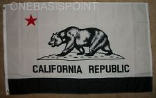 3'x5' California Flag Black And White Protest Grizzly Bear Banner Cali USA 3X5
