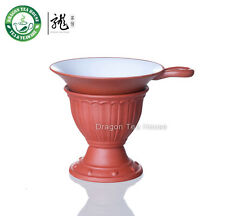 Yixing Yixing argile Glaze lacé Thé rouge Passoire & Support