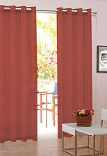 BULK VALUE PACK Snow Voile Eyelet Sheer Curtains 6 PAIRS or 12 PANELS plum red