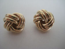 Gold knot earrings 9 carat yellow gold 12mm