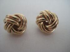 Gold Knoten Ohrringe 9 Karat Gelbgold 14mm