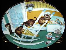 Country Kitties~Rock and Rollers Tabby Cat Kitten Plate