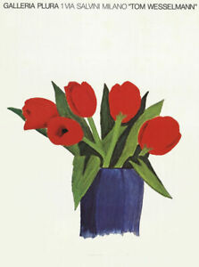 Tom Wesselmann Tulips In A Vase 1985 Poster 27 x 20