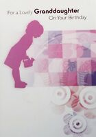 For a lovely Granddaughter on your Birthday greeting card, female, brand new