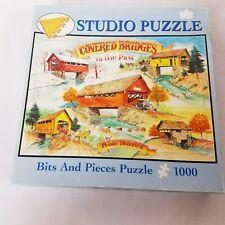 """Studio Puzzle Bits & Pieces 1000 Piece Puzzle Covered Bridges to The Past 20""""x27"""