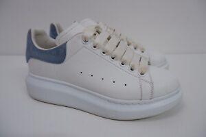 Alexander McQueen Womens Sneakers, Oversized, Uk 4.5, Eu37.5 White Leather Blue