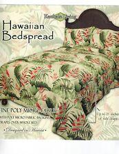 "Extra Large King Hawaiian Bedspread Quilt comforter w/ 2 shams Tropical 116x112"""