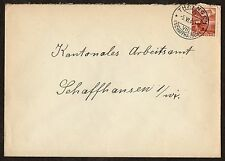 Switzerland: Plain Cover with 1930s 10c Chillon Castle stamp