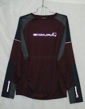 Endura Burner Shirt Mens Cycling Mountain Bike MTB Jersey Burgandy Size M New