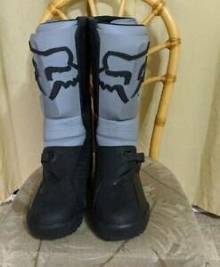 Fox Racing Comp X Boots Gray And Black Size Men US 14 EU 49