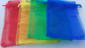 Large Organza Favour Pouches Gift Bag Voile Net Bags Drawstring Candy Sack