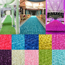 Anti-slip 3D Rose Flower Wedding Stage Floor Long Carpet Aisle Runner Mats  !P