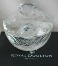 New Royal Doulton Radiance Collection Jewelry Trinket Box Optical Crystal Glass